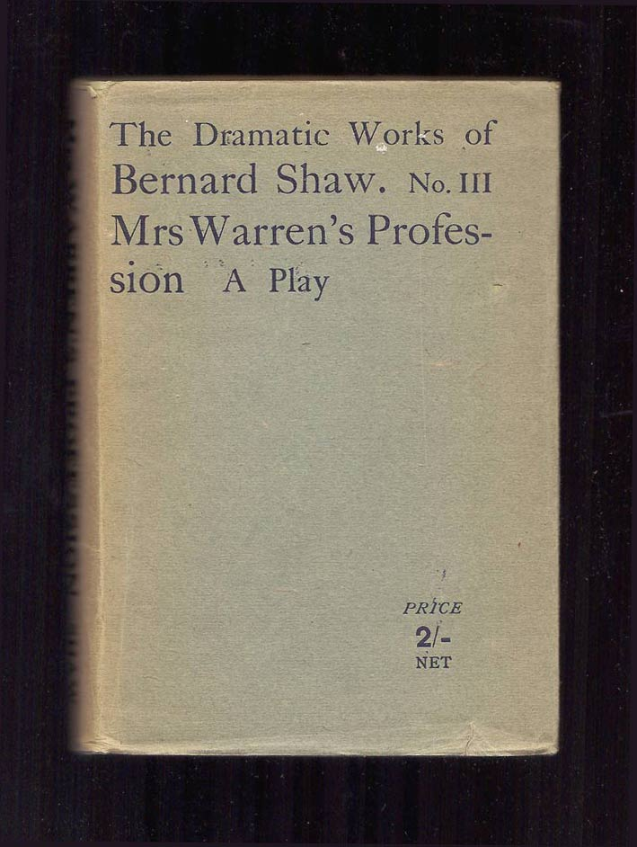 mrs warrens profession Below is a list of selected directing credits click on a title for production photos, reviews, and other information.
