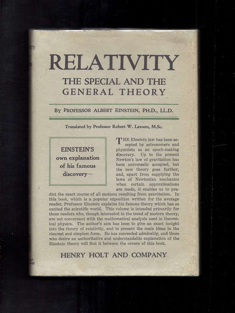 RELATIVITY. The Special And The General Theory. Albert Einstein.