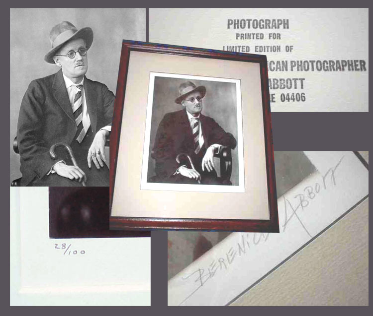 Bernice Abbott American Photographer. Signed. Berenice Abbott, James Joyce.