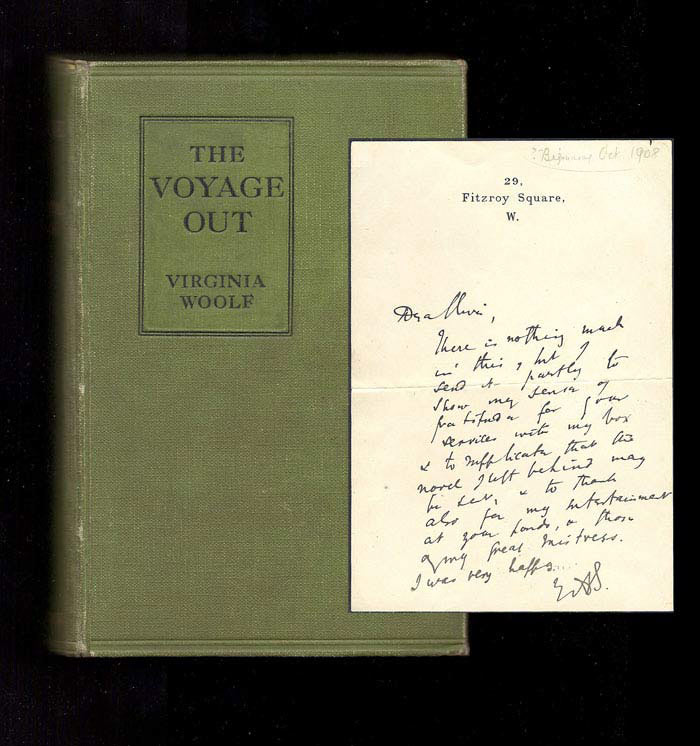 THE VOYAGE OUT. With A Letter From Virginia Woolf To Clive Bell.