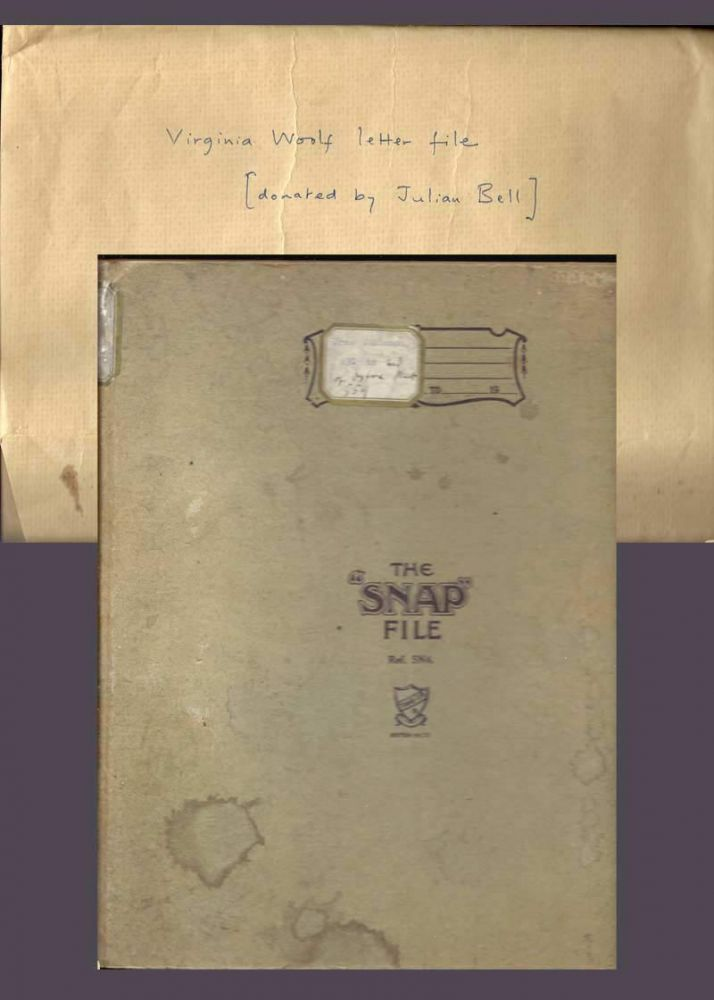 "A ""SNAP"" LETTER AND PAPER FILE. Virginia Woolf's copy. Virginia Woolf"