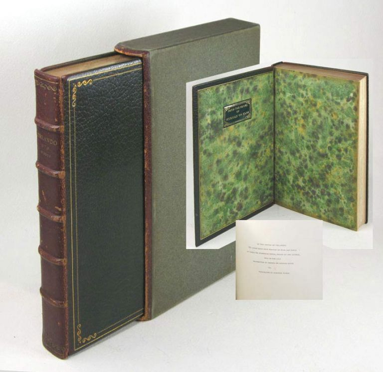 ORLANDO. A Biography. Morocco Presentation Binding. Virginia Woolf.