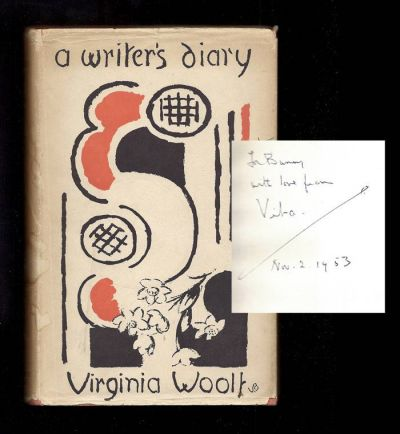 A WRITER'S DIARY. Being Extracts From The Diary Of Virginia Woolf. Inscribed By Vita Sackville-West To David Garnett. Virginia Woolf.