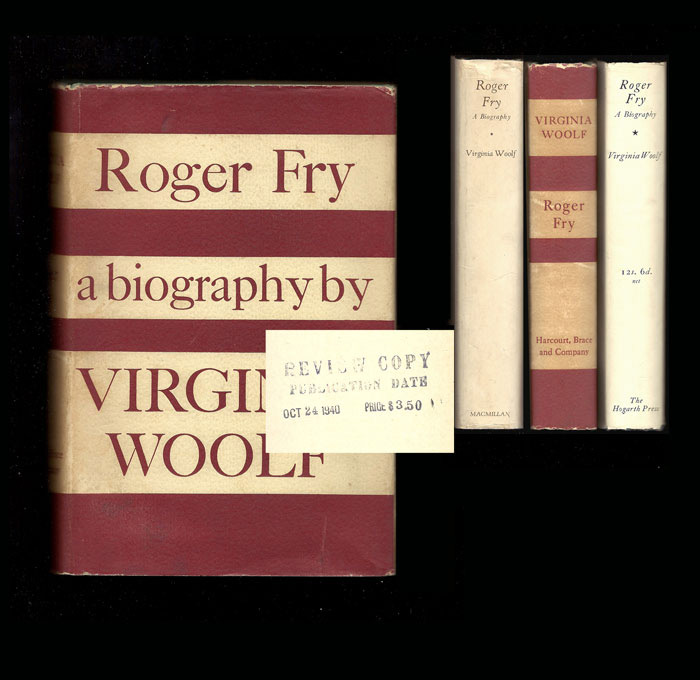 ROGER FRY. A Biography. Review Copy. Virginia Woolf