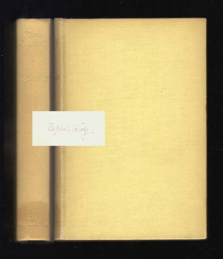 THREE GUINEAS. Signed. Virginia Woolf