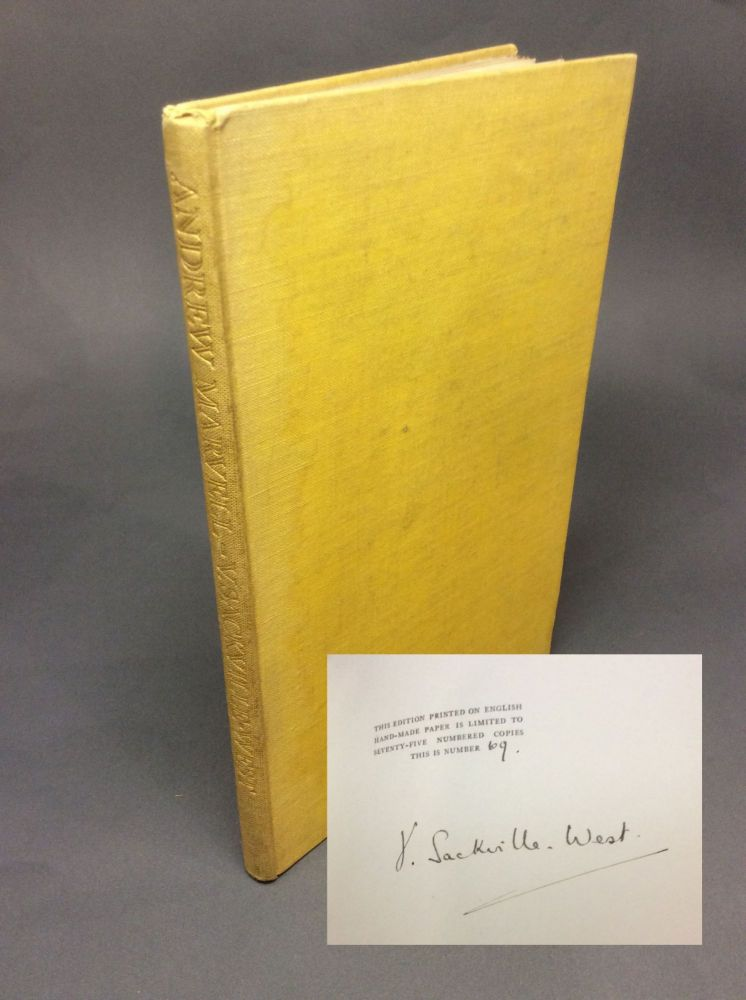 ANDREW MARVELL {The Poets On The Poets - No. 1}. Signed. Vita Sackville-West.