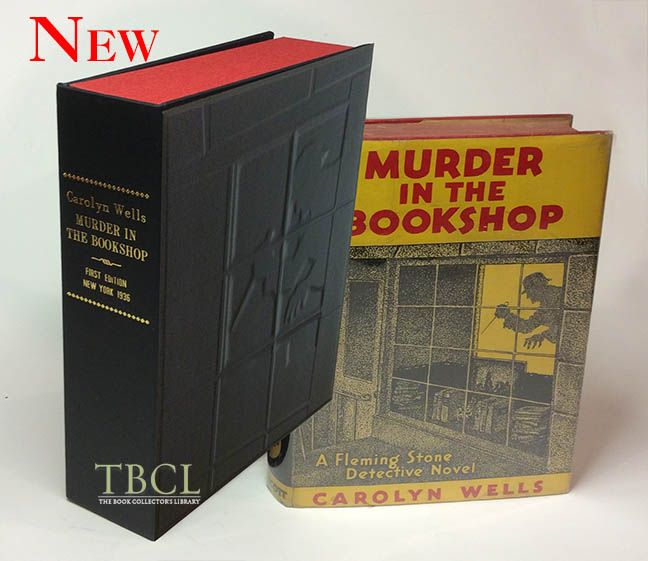 MURDER IN THE BOOKSHOP. [Collector's Custom Clamshell case only - Not a book]. Carolyn Wells.