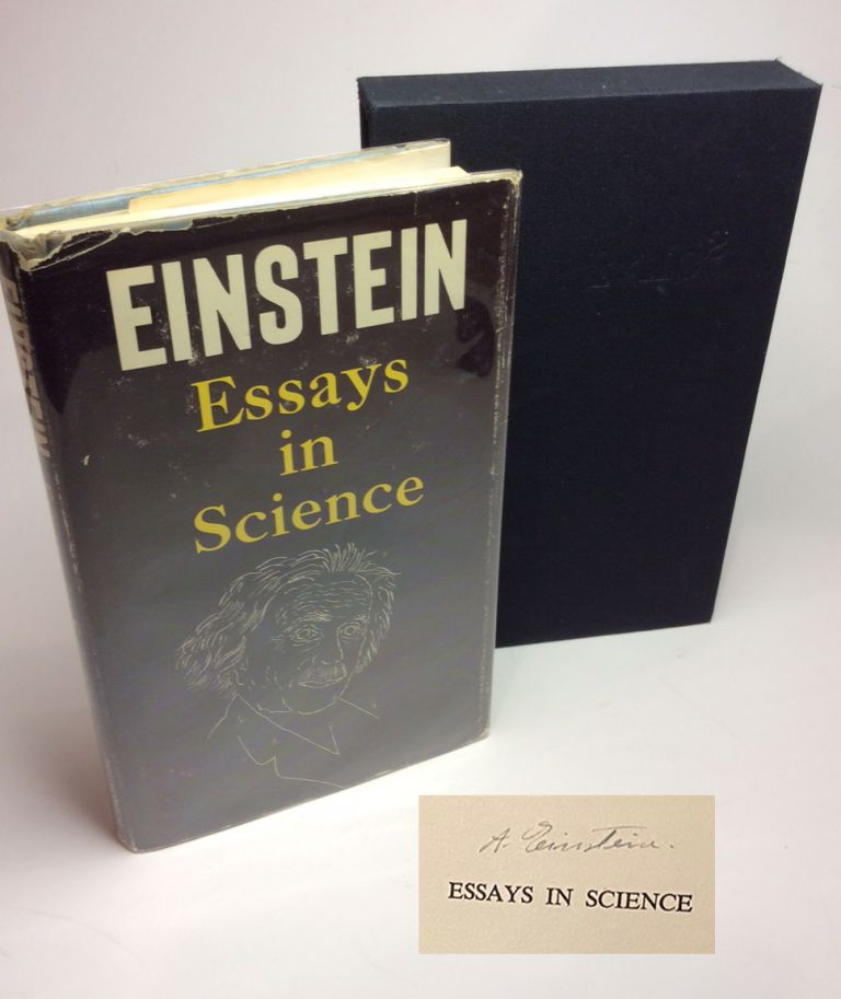 ESSAYS IN SCIENCE. Signed. Albert Einstein.