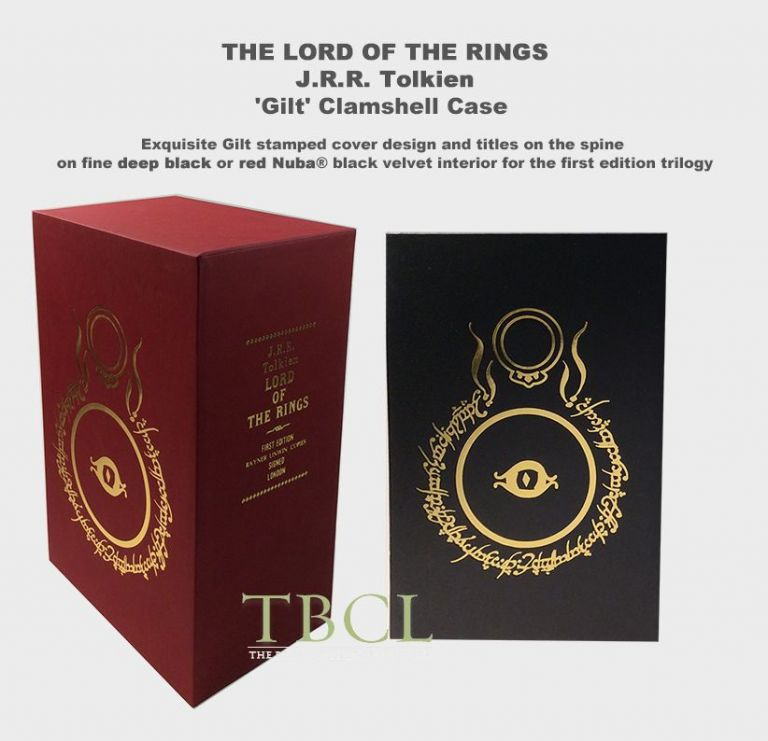 Trilogy: THE LORD OF THE RINGS Custom Clamshell Collector's Case or slip case for the trilogy (NOT A BOOK). J. R. R. Tolkien.
