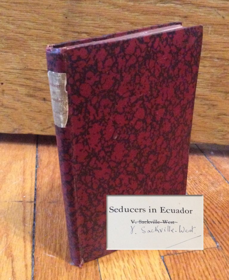 SEDUCERS IN ECUADOR. Signed. Vita Sackville-West