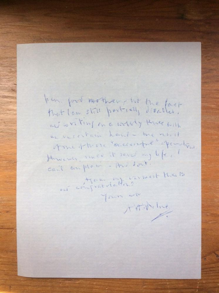 Autographed Letter, October 18, 1953. A. A. Milne