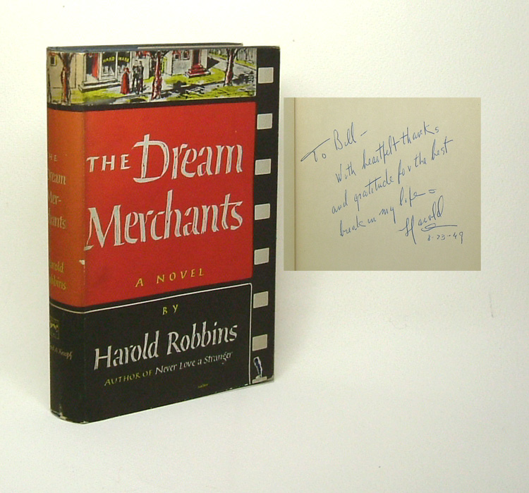 THE DREAM MERCHANTS [Inscribed]. Harold Robbins