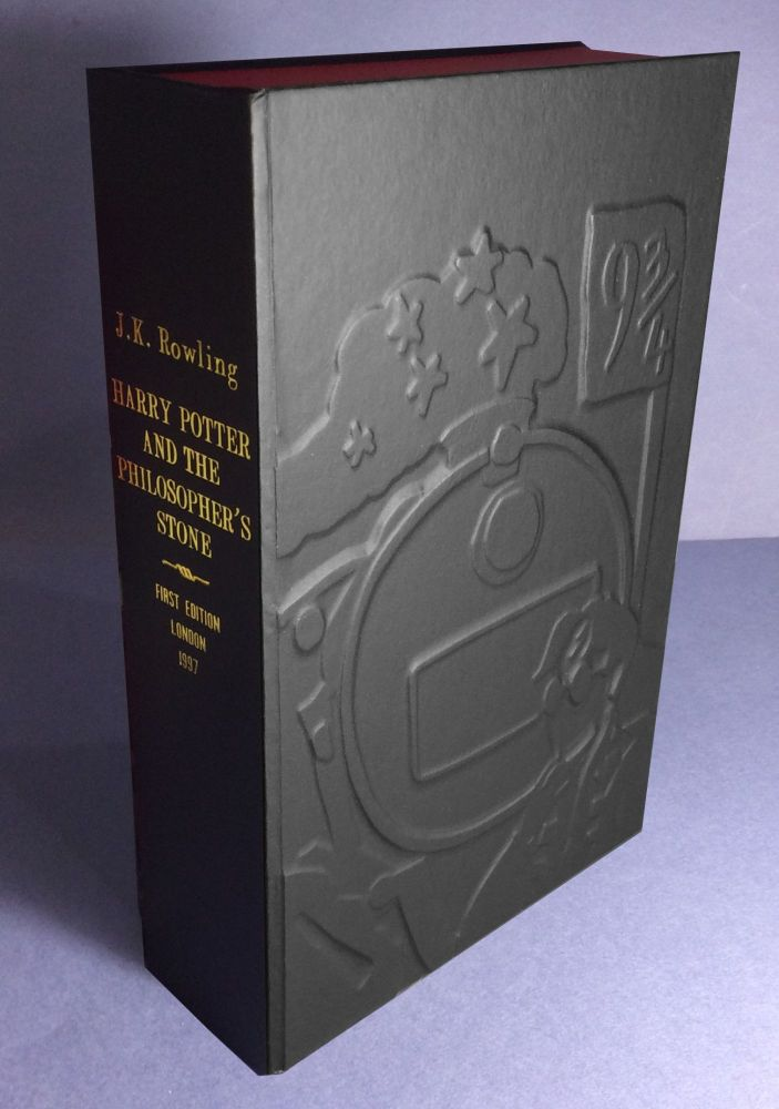 HARRY POTTER AND THE PHILOSOPHER'S STONE (Collector's Custom Clamshell case only - Not a book]....