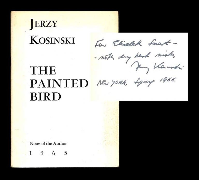 THE PAINTED BIRD. NOTES OF THE AUTHOR. Signed. Jerzy Kosinski