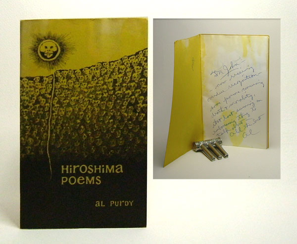 HIROSHIMA POEMS. Signed. Al Purdy