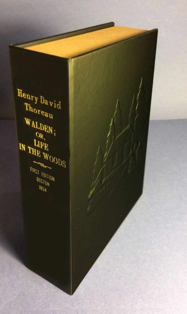 "WALDEN, OR LIFE IN THE WOODS [Collector's Custom Clamshell case only - Not a book and ""no book"" included]. Henry David Thoreau."