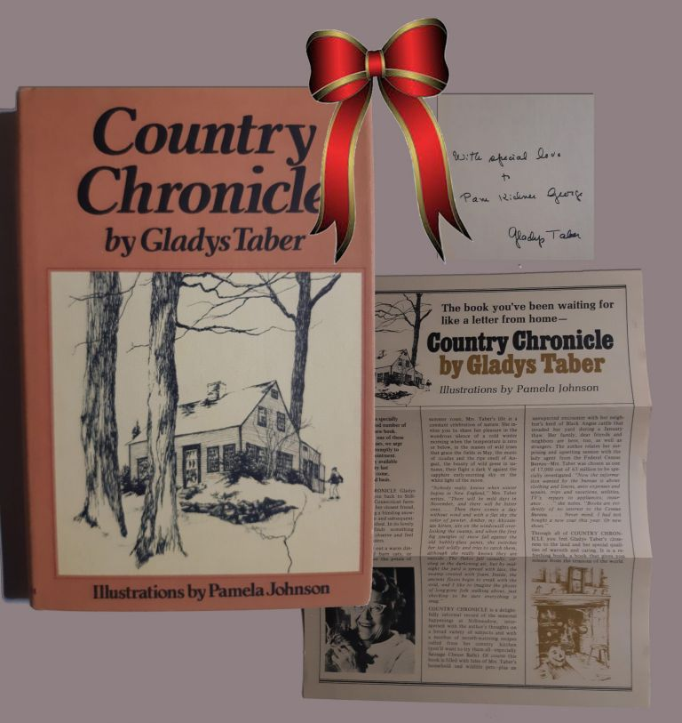 Charming and ageless. COUNTRY CHRONICLE. Signed. Gladys Taber
