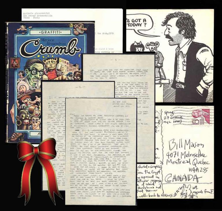 "SMALL BUT SIGNIFICANT ARCHIVE REGARDING THE TRANSLATION OF THE ""CRUMB"" BIOGRAPHY. Robert Crumb,..."