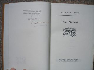 THE GARDEN. Signed