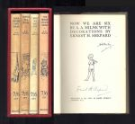 THE POOH BOOKS: WHEN WE WERE VERY YOUNG; WINNIE-THE-POOH; NOW WE ARE SIX; THE HOUSE AT POOH CORNER. Signed.