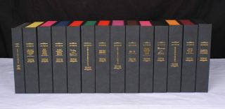 A COMPLETE SET OF 14 FLEMING / BOND 007 NOVELS Custom Clamshell Cases Only.