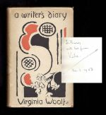 A WRITER'S DIARY. Being Extracts From The Diary Of Virginia Woolf. Inscribed By Vita Sackville-West To David Garnett.