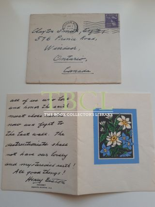 34 CHRISTMAS AND NEW YEAR'S CARDS AND LETTERS; 14 FROM HENRY BESTON, 20 FROM ELIZABETH COATSWORTH